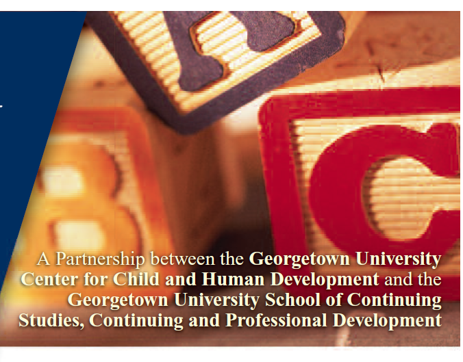 Georgetown University Certificate in Early Intervention